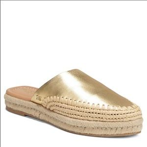 Sam Edelman Metallic Gold Espadrille Loafer